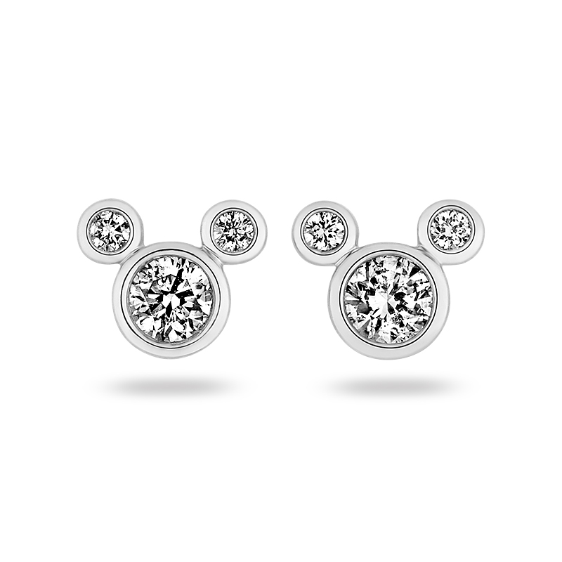 f5fe2def8 Mickey Mouse Earrings White Gold - The Best Produck Of Earring